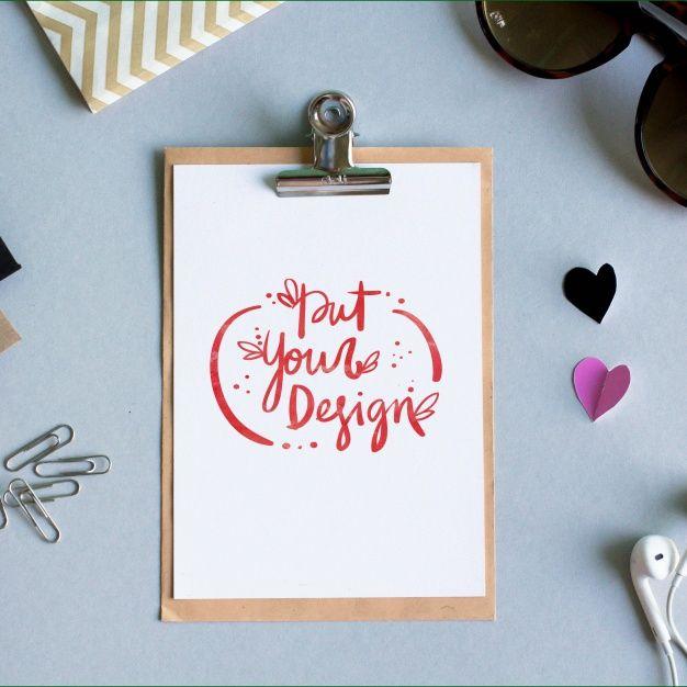 Sheet of paper template design Free Psd