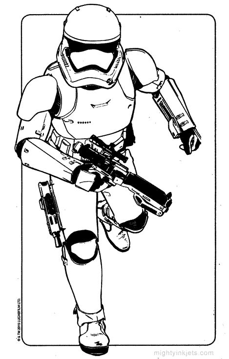 Star Wars Storm Trooper Coloring Page Force Awakens Gif