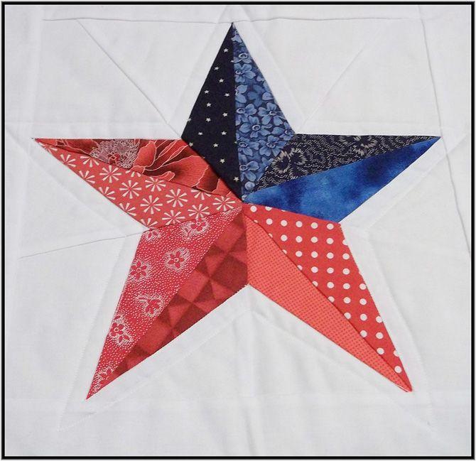 Five Point Texas Star Quilt Pattern