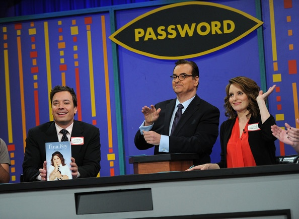 Steve Higgins, Fallon and Tina Fey - Password on Late Night with Jimmy Fallon.