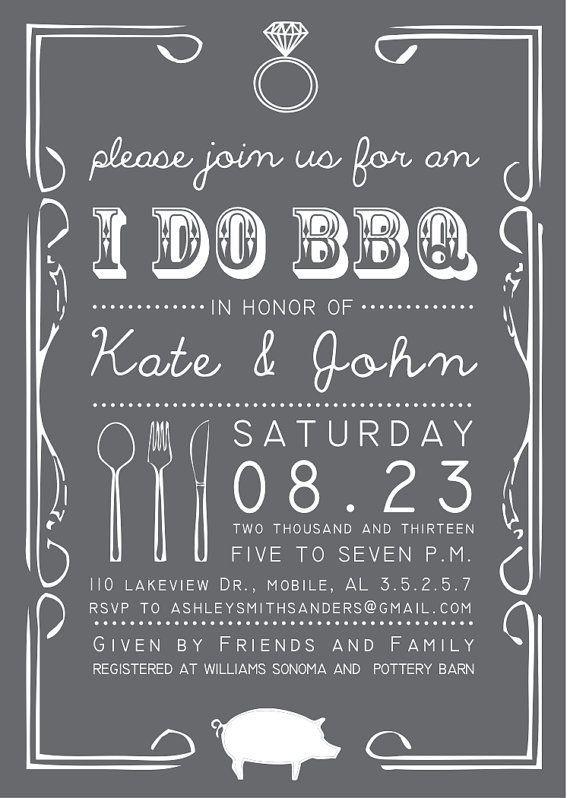 32 best I DO BBQ Invitations images on Pinterest