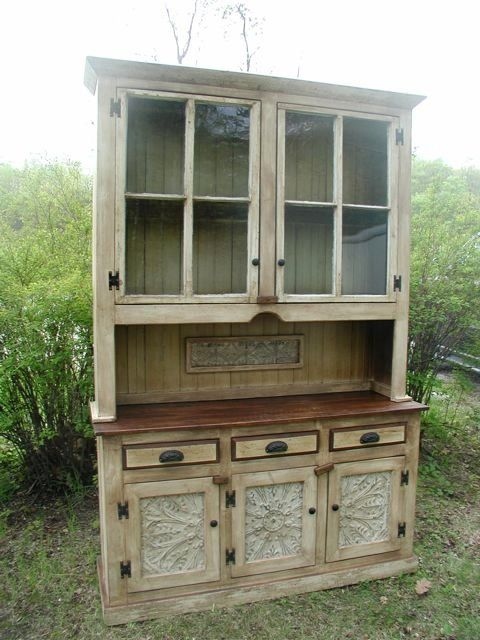 OMG** This is beautiful!! I would love to find an old piece of furniture like this to redue.  {reclaimed furniture} ♥♥