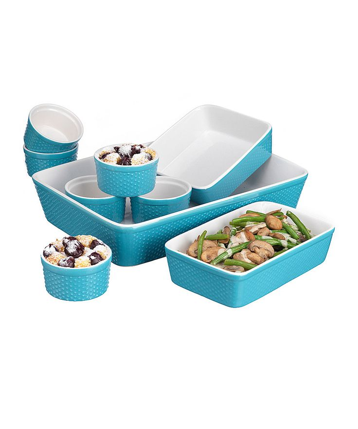 Turquoise Hobnail 9-Piece Bakeware Set