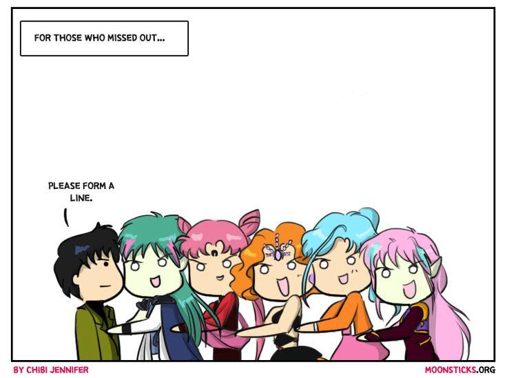 MoonSticks Sailor Moon Comic/Doujin #71 Mamoru Belongs to Me! Part II featuring Chiba Mamoru, Fiore, Black Lady, Mimete, FishEye and En