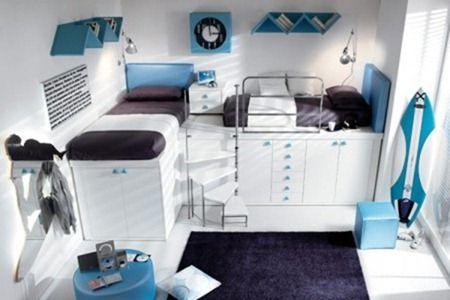 Интерьер детской комнаты для двух мальчиков. Дизайн интерьера спальни для близнецов
