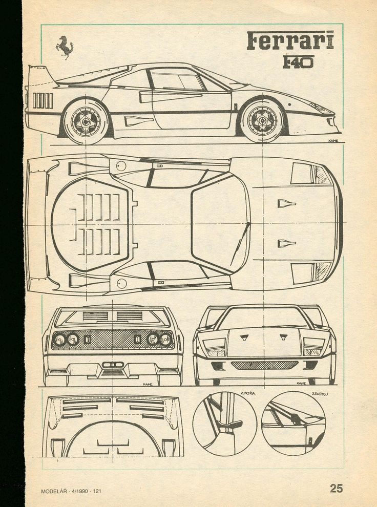 Ferrari F40 | SMCars.Net - Car Blueprints Forum