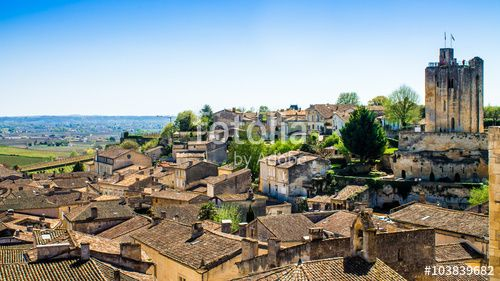 #panoramic #view #SaintEmilion #Bordeaux #France