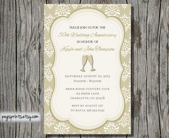 50th Wedding Invitation Templates: 21 Best Images About 50th Anniversary On Pinterest