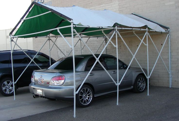 Build a PVC car canopy (or use for camping canopy)