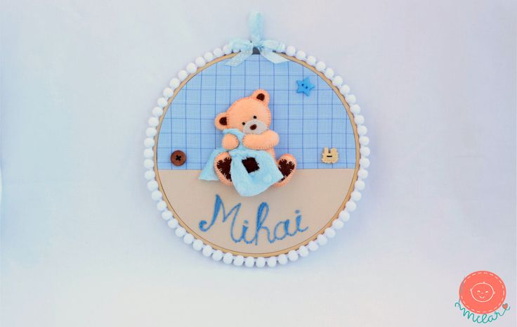 A personal favorite from my Etsy shop https://www.etsy.com/listing/507231118/nursery-hoop-baby-name-3d-wall-art