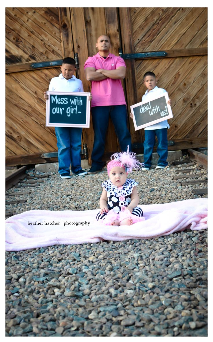 Don't mess with her  #brotherly-love #daddyslittlegirl Heather Hatcher Photography | Abado Family | Old Poway Park | http://heatherhatcherphotography.com
