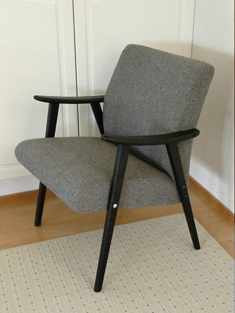 Reupholstered Asko chair