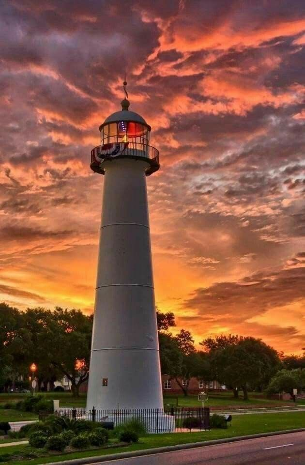 Biloxi Light Mississippi Lighthouse Pictures Lighthouses