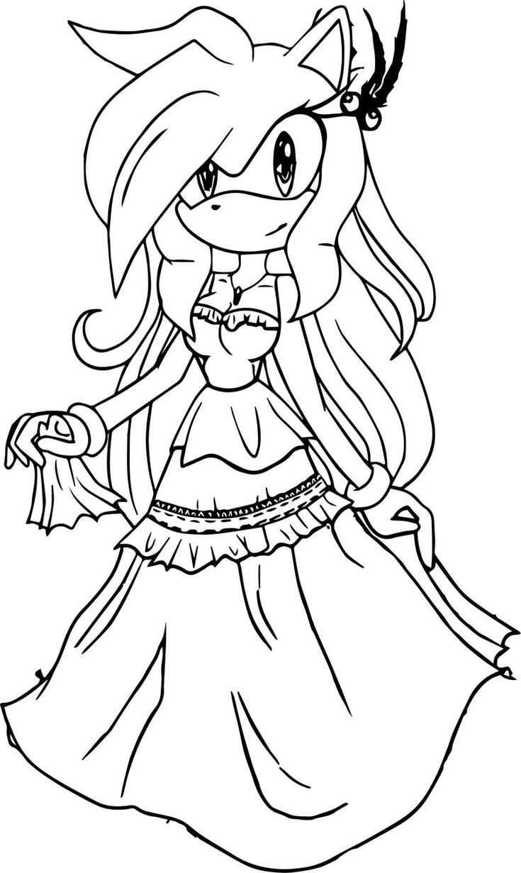Fantastic Dress Amy Rose Coloring Page  Rose coloring pages, Star