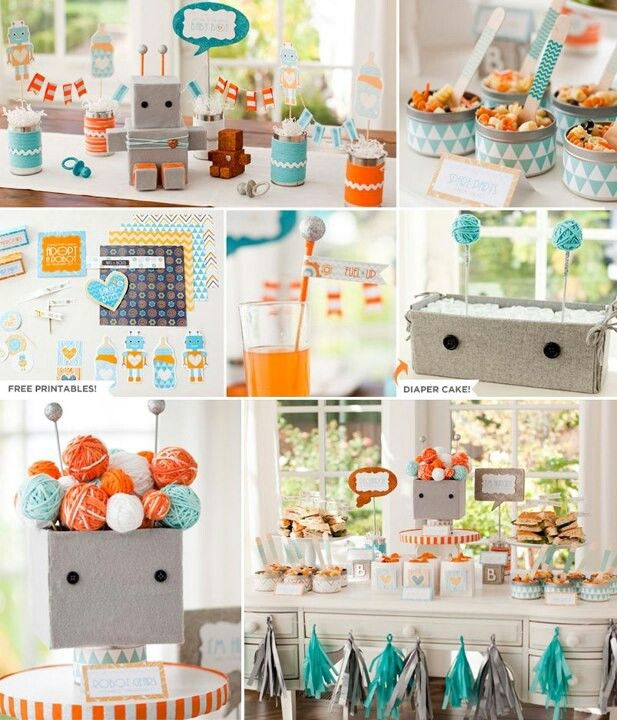 color inspiration- teal blue + orange + green (seen through the window!)