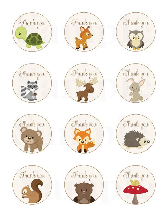 Woodland Friends Forest Animals Theme Baby par TheLovelyMemories