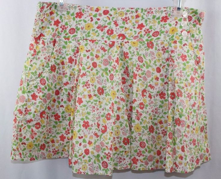 American Eagle Juniors Womens Skirt Floral Flowers Pockets Size M #AmericanEagleOutfitters #Mini