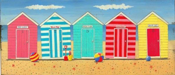 beach-huts print