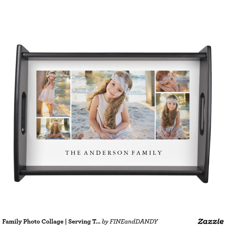 Family Photo Collage | Serving Tray. Inspiration to create your product. The photograph must have good resolution. Inspiración para crear tu producto. La fotografía debe tener buena resolución. Bandejas Serving Trays, home decor, decoración. Producto disponible en tienda Zazzle. Decoración para el hogar. Product available in Zazzle store. Home decoration. Regalos, Gifts. #Bandejas #Serving #Trays