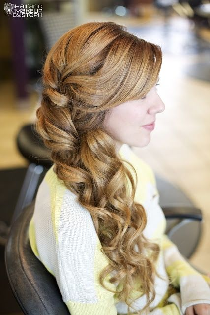 {Wedding Hairstyles} #Side-Swept Bridal Hair ♥ #hairstyle #bridal: Hair Ideas, Bridesmaid Hair, Side Swept, Wedding Ideas, Long Hair, Hair Wedding, Bridal Hair, Hair Style, Wedding Hairstyles