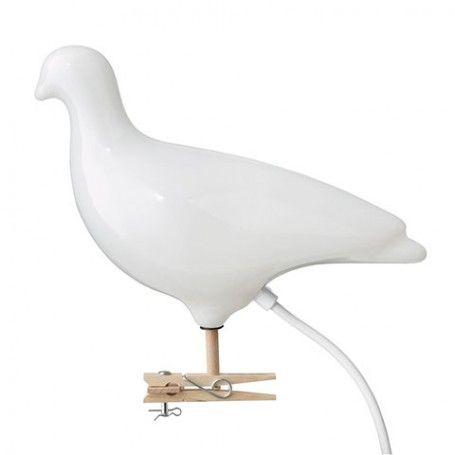 Duif lamp Pigeon  - Wit