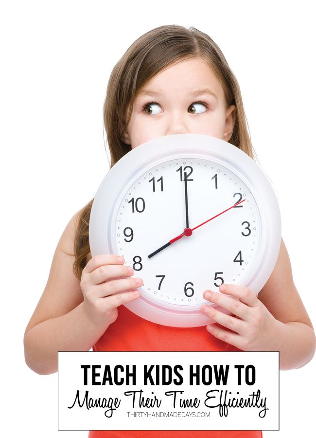 Teaching Kids How to Manage Time - things to keep in mind when rushing them out the door. www.thirtyhandmadedays.com