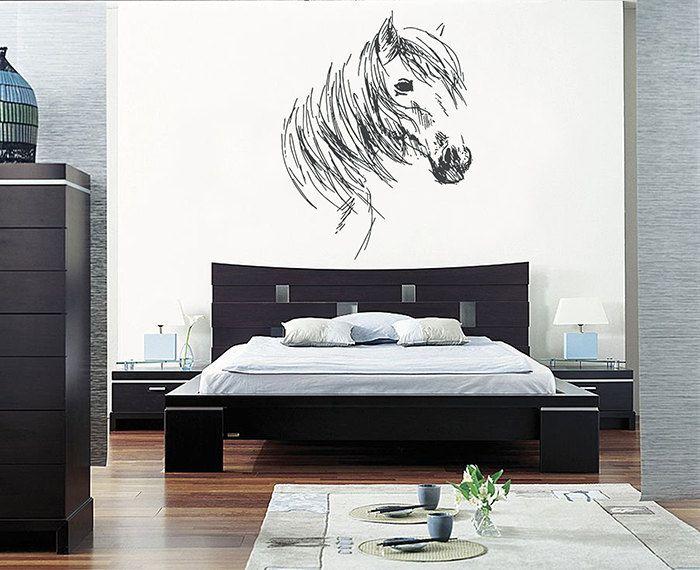 kik664 Wall Decal Sticker horse head animal living room bedroom