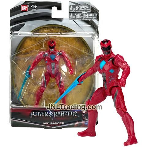 Bandai Year 2016 Saban's Power Rangers Movie Series 5 Inch Tall Action Figure - Action Hero RED RANGER with Blue Sword