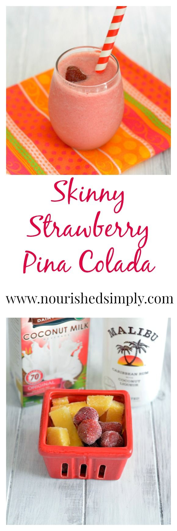I love low calorie drink recipes in the summer. Skinny Pina Colada - rich in flavor, but lower in calories!