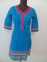 Blue Color Pure Cotton Kurti From Best Cotton Kurti Collection.Buy it at 50% off for Rupees 449.