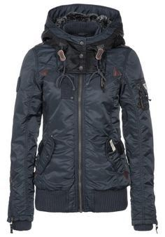 Ladies black warm jacket fashion