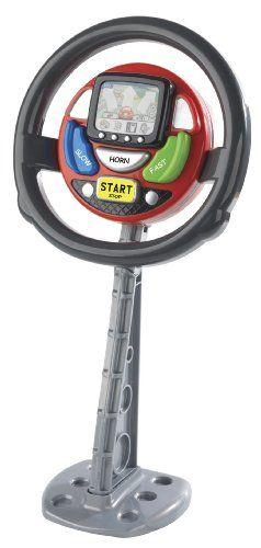 Casdon – 634 – Volant avec écran GPS: Le premier volant avec GPS au monde Diverses commandes interagissent avec le volant Sons de voiture…