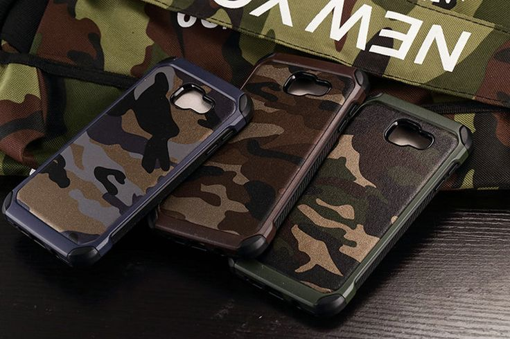 2 in 1 Army Camo Camouflage Hybrid Armor Cover Case For Samsung Galaxy A3 A5 A7 2016 A310 A510 A710 Hard PC+TPU Soft Cases  MC01