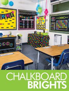 chalkboard brights classroom decorations.