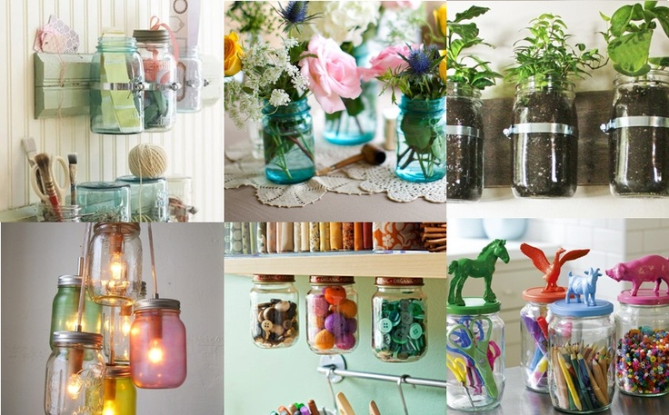 Creatief doen met glazen potten! Iedereen kent ze wel ... de glazen potten ... welke om de jam, pindakaas, verse vruchtensap en groentes zitten, ook hier kun je super creatief mee zijn! Het is dan ook een van de oudste manieren om een product te verpakken. Jammer genoeg brengen de meeste mensen dit 'restproduct' direct naar de glasbak. Zonde wat mij betreft. Je kunt namelijk ontzettend veel (decoratieve) kanten op met het simpele glazen potje. Nooit weggooien dus!