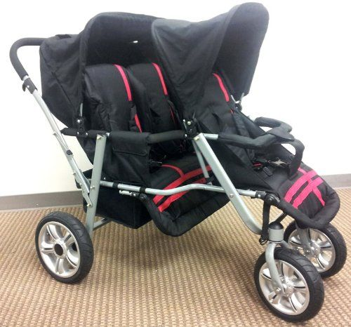 Tandem Style Three-Seat Jogging Stroller