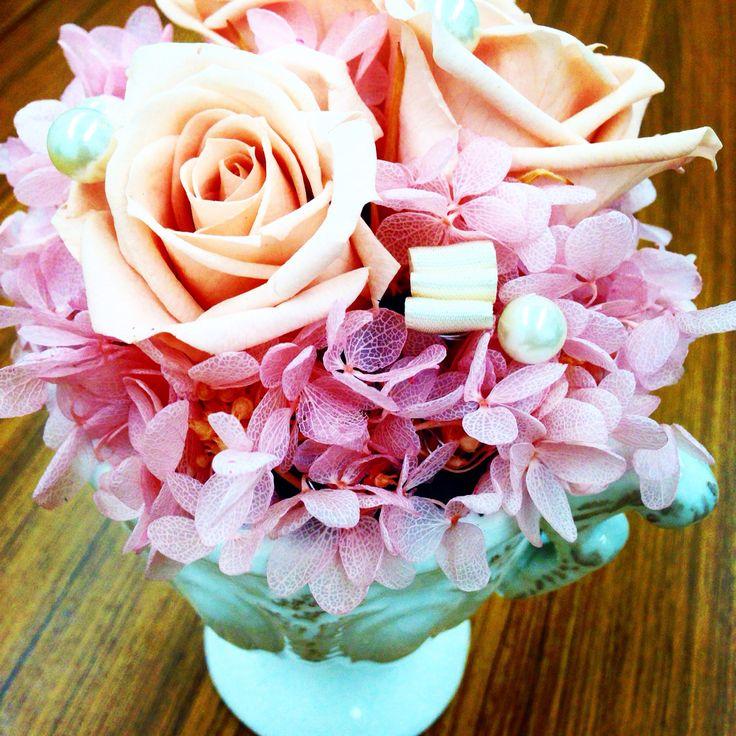 #preserved flower #pink #rose