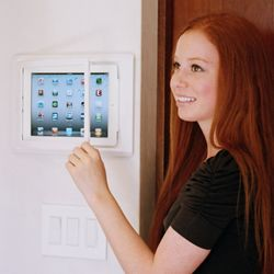 The iPad Wall #Dock allows you to securely mount your #iPad to a wall, creating an elegant, touchscreen command center for home theater, whole-house automation, security and more. http://www.homecontrols.com/Channel-Vision-On-Wall-Dock-CVA0602