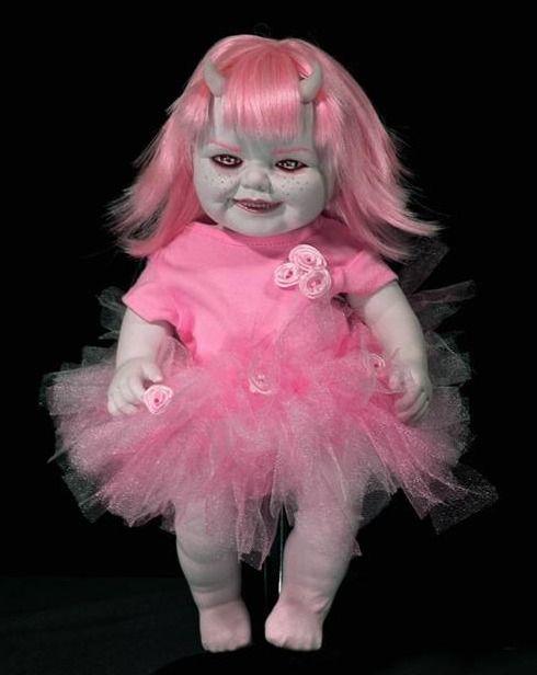 Gothic Dolls Reborn Babies Doll Makeup Creepy Toy Boxes Art Pixies Demons