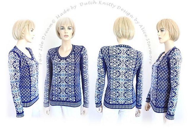 LOL MET WOL: FAIR ISLE DREAM uitleg van de knipbies en het breien van een fair isle trui van onder naar boven.