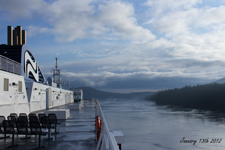Beautiful morning on BC Ferries