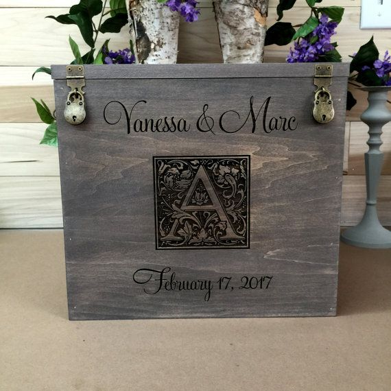 Wedding Card Box Rustic Wedding Gift Card Box by willowroaddesigns