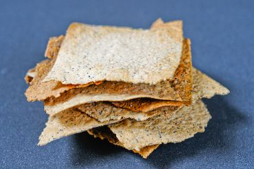Olive Oil and Seed Crackers  I make these with rye sourdough starter