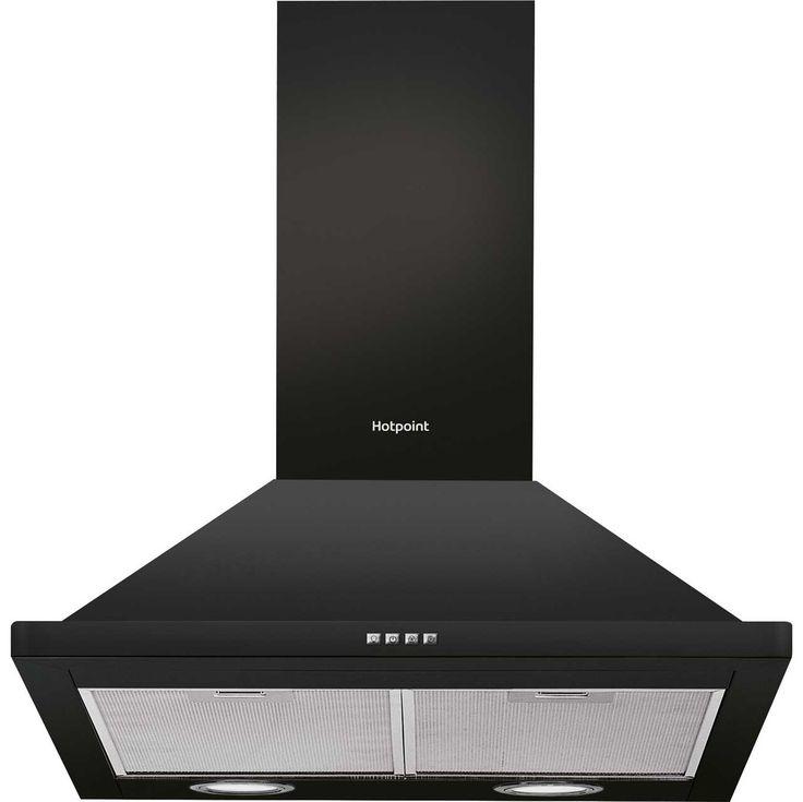 Hotpoint PHPN64FAMK 60 cm Chimney Cooker Hood - Black