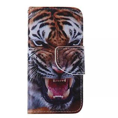 For+iPhone+5+etui+Kortholder+/+Pung+/+Med+stativ+/+Flip+/+Mønster+Etui+Heldækkende+Etui+Dyr+Hårdt+KunstlæderiPhone+7+Plus+/+iPhone+7+/+–+DKK+kr.+64