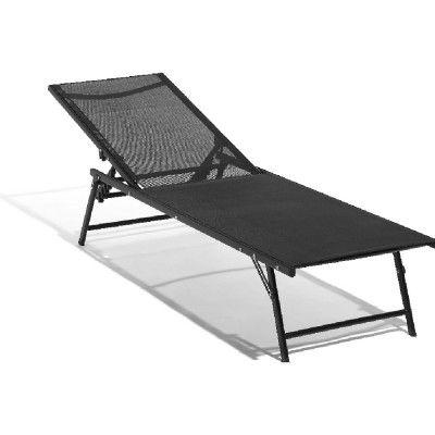 Bain de soleil 3 positions pliant noir - Transat / Hamac - Mobilier de jardin - Jardin / Plein Air | GiFi