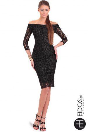 Sukienka #koronkowa czarna bez ramiączek
