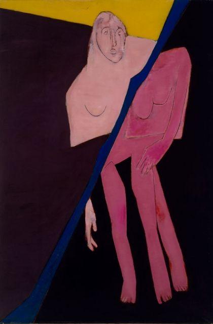 Tyeb Mehta.Diagonal,oilon canvas, 1974.