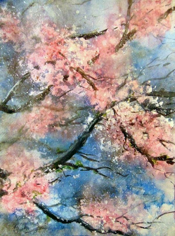 """Spring in my soul ""- watercolor  30x40"
