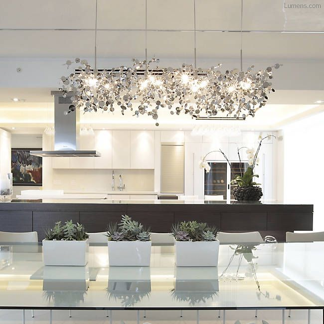 Modern Linear Dining Room Chandelier